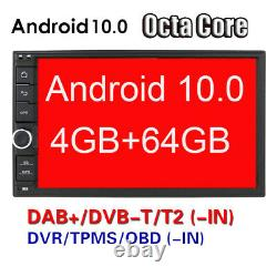 Hizpo Octa-core Android 10 4gb+64gb 7 Double 2din Voiture Stereo Radio Gps Dab+tv