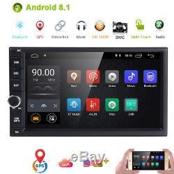 Hizpo Quad Core Android 8.1 4g Wifi 7 Double 2din Autoradio Stéréo Dab + Gps Navi