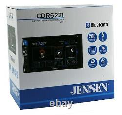 Jensen Cdr6221 6,2 Pouces Led Cd/dvd Touch Screen Bluetooth Double Din Car Stéréo