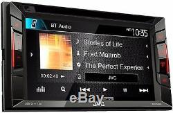 Jvc Double Din Voiture Bluetooth Stéréo 6.2 Avec Écran Tactile Rearview Caméra De Recul