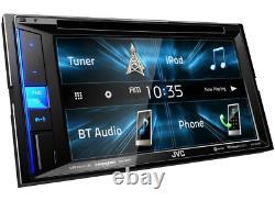 Jvc Kw-v25bt Car Stereo Double Din 6.2 Tv CD Usb DVD Bluetooth Iphone Pandora