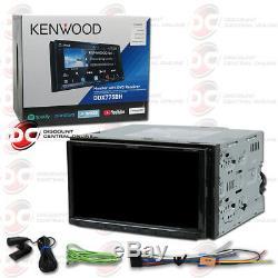 Kenwood 2din Ddx775bh 7 Radio Stéréo DVD Hd À Écran Tactile Avec Bluetooth Et Weblink