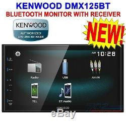 Kenwood Dmx125bt Double Din 6.8 Écran Tactile Voiture Stéréo Numérique Mediea Récepteur