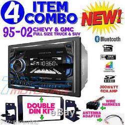 Kit Radio Stéréo De Voiture De Vacarme De Double De Bluetooth D'écran De Style De Camion / Suv De 95-02 Gm