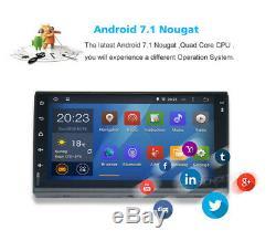 Lecteur Audio Android 7.1 Wifi 4g 7 Double 2 Din Autoradio Stéréo Gps Navi Dab + Caméra