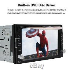 Lecteur De DVD Stéréo De Voiture De Navigation De Double Gps 2d CD Bluetooth Radio Automatique + Appareil-photo