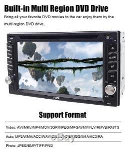 Lecteur De Radio Stéréo Double Lecteur DVD De Voiture Indash Avec Lecteur Bluetooth + Caméra