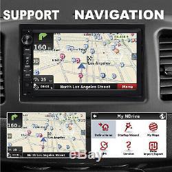 Lecteur Radio Navigation Gps Android Voiture Stéréo Double Din Wifi 7 + Caméra De Recul