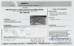 Metra Dp-3002b Double Din Truck Dash Kit 1999-02 Silverado Sierra + Gm Pleine Grandeur