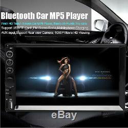Miroir Lien Pour Gps Navi Double 2din Car Stereo + Caméra De Recul Écran Tactile Radio