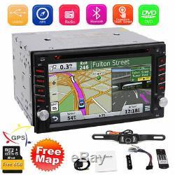 Navigation Gps + 8 Go Carte Bluetooth Radio Double Din 6.2 Autoradio DVD Lecteur CD