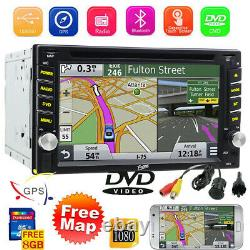 Navigation Gps Avec Carte Bluetooth Radio Double Din 6.2car Stereo DVD Player CD