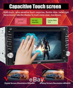 Navigation Gps Avec Lecteur De DVD Stéréo VCD De Double Din De 6.2car De Radio De Bluetooth De Carte