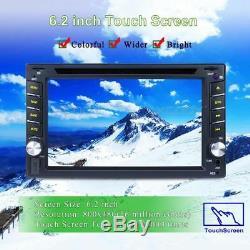 Navigation Gps Double Din Voiture Dash DVD Radio Stéréo Lecteur Bt + Caméra Libre
