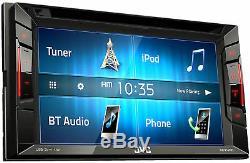Nouveau Jvc Kw-v140bt 6.2 Écran Tactile Double Din Lecteur DVD De Voiture Bluetooth Stéréo