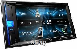 Nouveau Jvc Kw-v25bt 6.2 Écran Tactile Double Din Lecteur Mp3 Bluetooth DVD Car Stereo