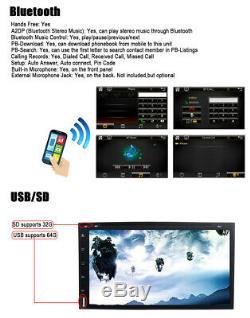 Objectif Sony 7 Double 2din Car Stereo Radio Lecteur DVD Bluetooth CD Au Tableau De Bord + Camera