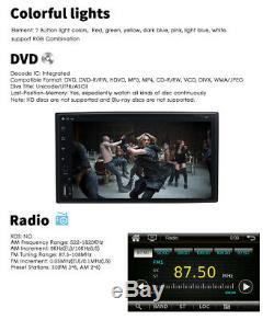 Objectif Sony Double 2din 6.2car Chaîne Stéréo Radio CD DVD Bluetooth Tv Mp3 MIC Sd