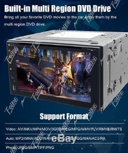 Objectif Sony Double 2din Tactile Bluetooth Lecteur DVD / CD Voiture Radio Fm Stéréo Swc Usb
