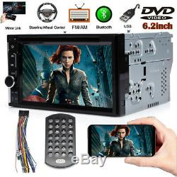 Objectif Sony Double Din Car Stereo Radio Lecteur DVD Bluetooth Tv Mirrorlink Pour Gps