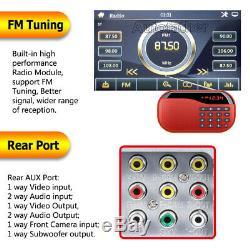 Objectif Sony Double Din Car Stereo Radio Lecteur DVD Bluetooth Tv Usb Miroir Pour Gps