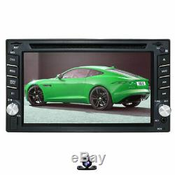 Objectif Sony Gps + Map + Cam-double 2din En Voiture Dash Stéréo Lecteur DVD Radio Bt Ipod