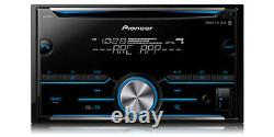 Pioneer Fh-s500bt Double Din Bluetooth Avec Car Radio Stereo 2-din Dash Kit