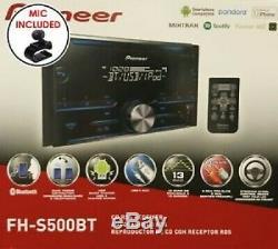 Pioneer Fh-s520bt Double Din Bluetooth Au Tableau De Bord CD / Am / Fm Stéréo Nouveau
