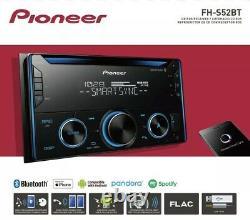 Pioneer Fh-s52bt Double Din Bluetooth Récepteur Voiture Stéréo Nouveau Dans La Boîte