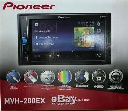 Pioneer Mvh-200ex Double Din Bluetooth Au Tableau De Bord Digital Media Car Stereo