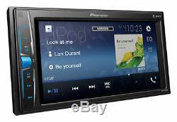 Pioneer Mvh-a210vbt Car Radio Stéréo Mp3 Usb Aux Bluetooth Double Din Rev Cam