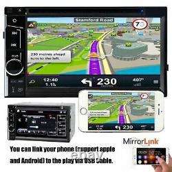 Pour 06 07 08 09 10 Dodge Ram Touch Bluetooth CD Usb Double Din Car Stereo Radio