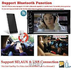 Pour 2007-14 Chrysler Dodge Jeep 2din Hd Stéréo De Voiture Lecteur DVD Lecteur CD Radio Bluetooth