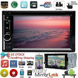 Pour Chrysl Town & Country 2din 6.2 Car Stereo Radio CD DVD Player Bluetooth Am