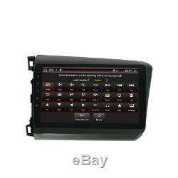 Pour Honda CIVIC 2012 Android 10.0 Gps Voiture Radio Stéréo Navi Dab Bt Obd Aux 9ips