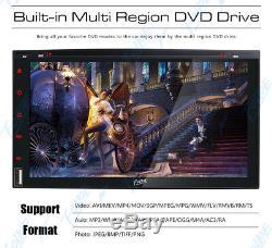 Pour Sony Bluetooth Objectif Autoradio DVD Lecteur CD 7radio Sd / Usb In-dash + Caméra