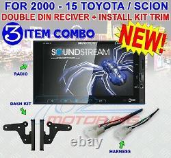 Pour Toyota & Scion Bluetooth Usb Car Radio Stereo Pkg. Opt. Rear Cam Soundstream