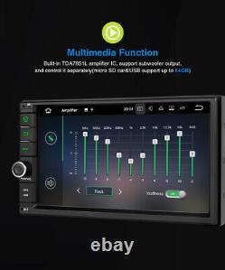 Pumpkin Double Din 7 Android 10.0 Voiture Radio Stéréo 4gb+64gb Gps Navi Chef D'unité