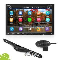 Pyle Pldnandvr695 Android Car Stereo Double Din Dvr Dash Cam Kit De Sauvegarde