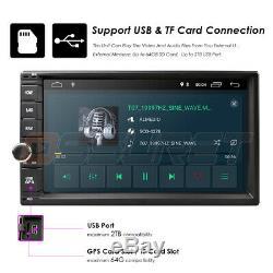 Quad Core Android 9.0 Wifi 4g 7double 2din Voiture Radio Stéréo Aucun Lecteur DVD Gps E