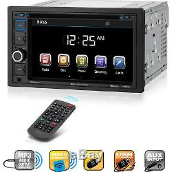 Radio Caméra Arrière Double Din Car Stereo Boss Audio Usb Sd Aux Bluetooth