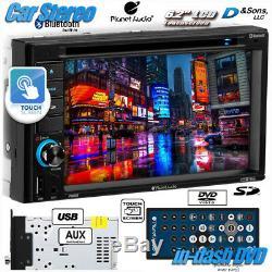 Radio Stéréo Pour Voiture Avec Lecteur DVD / CD / Usb Double Plan Din Audio 6.2 In-dash Au Bluetooth
