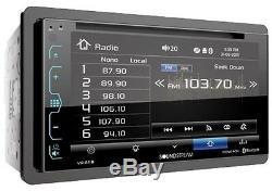 Récepteur Stéréo À Double Écran Tactile De Panneau De Verre Bluetooth Pour Récepteur De Voiture W Avec Kit D'installation