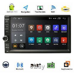 Rétroviseur 2gb De Ram Stéréo 16gb De Lien De La Radio 2d Wifi De Voiture De Android 2din Gps Gps Wifi 3g Dab