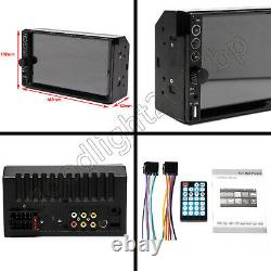 Reverse Camera+7 Double 2din Car Stereo Non-dvd Mirrorlink Pour Carte Gps Android