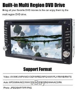 Sauvegarde Caméra Et Gps Double 2din Voiture Stéréo Radio CD Lecteur DVD Bluetooth Avec Carte