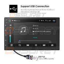 Stéréo Intégré De Dsp De Voiture De La Carte Bt De Radio De Carte D'android 9.0 Gps Double Din 7