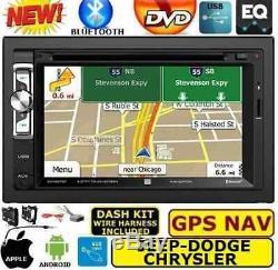 Système De Navigation Gps Chrysler Jeep Dodge DVD CD Usb Radio De Voiture Bluetooth Stéréo
