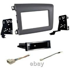 Une Seule / Double-din Voiture Stereo Radio Installer Dash Wire Kit Combo 2012 Honda CIVIC