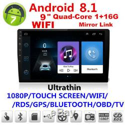Universal 9 Android 8.1 Double 2 Din Pad Car Stereo Radio Mp5 Gps Wifi